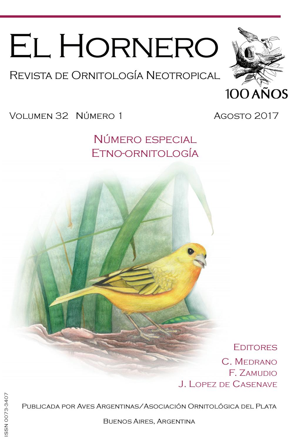 El Hornero V32n1 By Aves Argentinas Issuu
