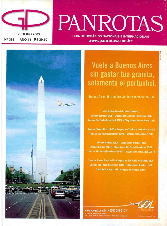 19b5052dd Guia PANROTAS - Edição 383 - Fevereiro/2005 by PANROTAS Editora - issuu