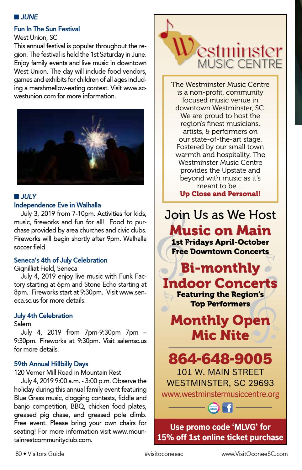 Visit Oconee SC Visitor's Guide by EDWARDS PUBLICATIONS - issuu