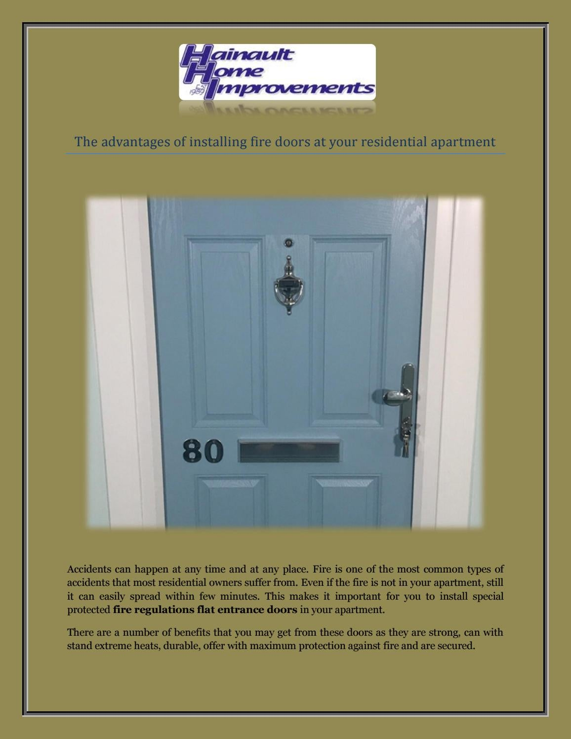 The advantages of installing fire doors at your residential ... on