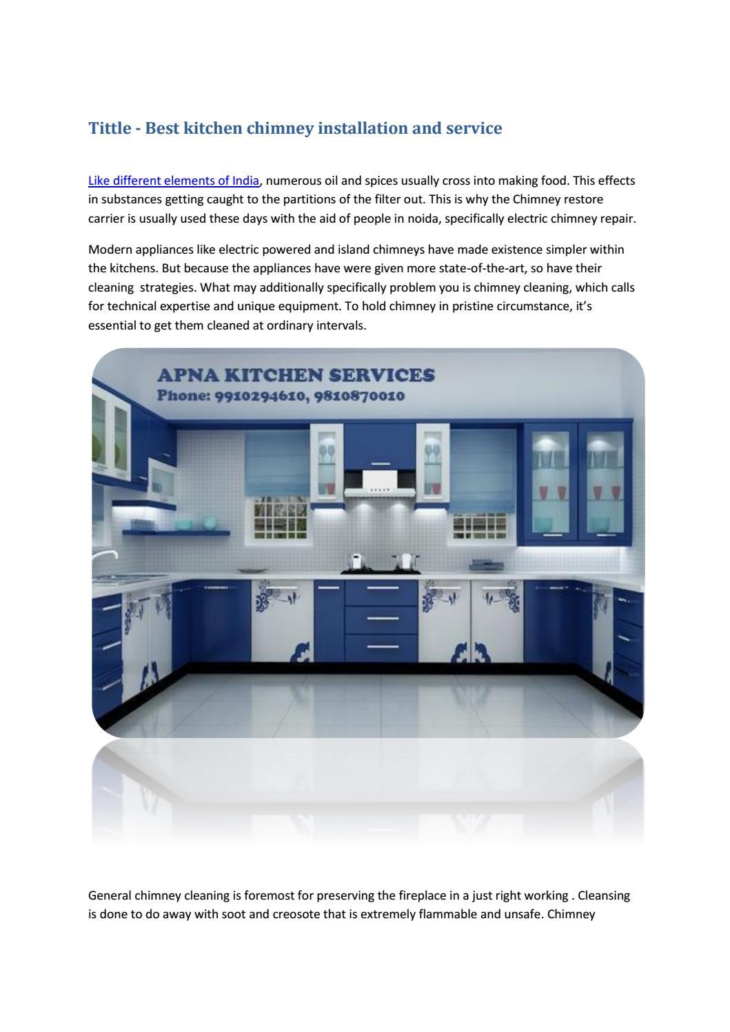Best kitchen chimney installation and service by Arvind Rawat - issuu