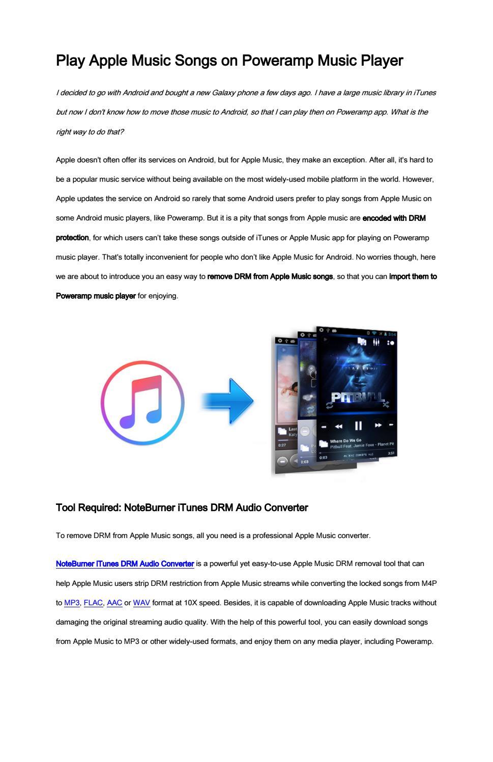 Play Apple Music Songs on Poweramp Music Player by Nancy - issuu