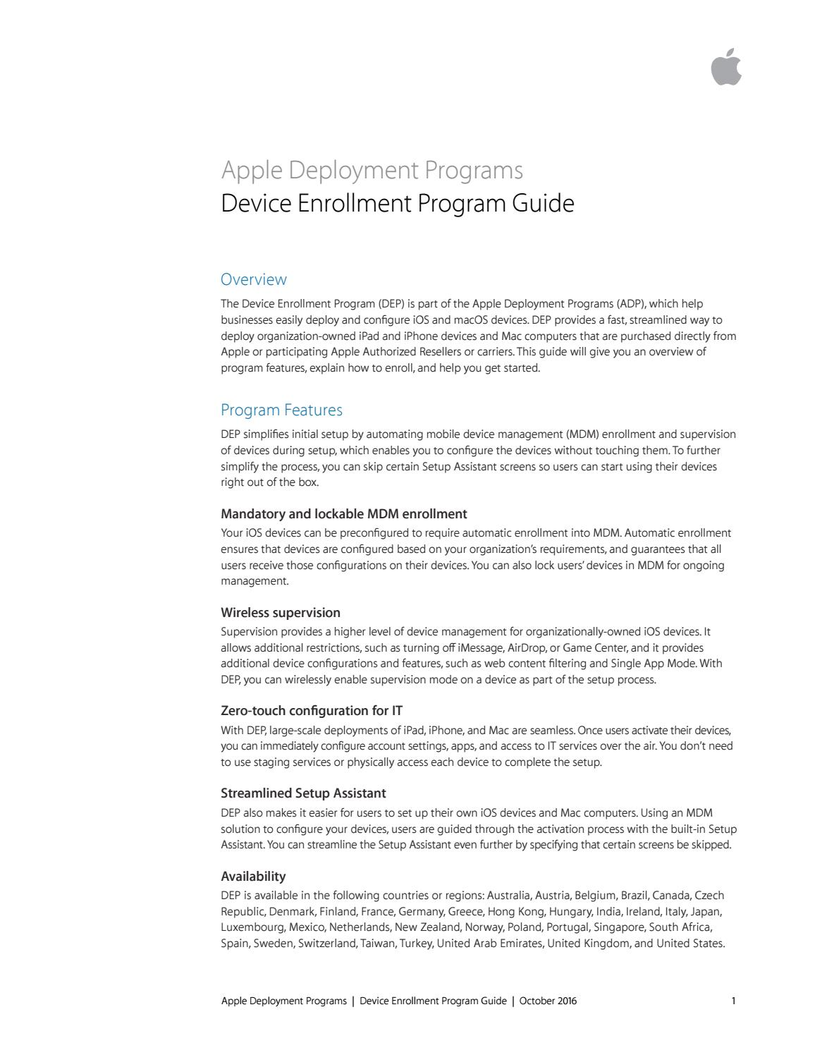 Apple Deployment Programs by iStore SA - issuu
