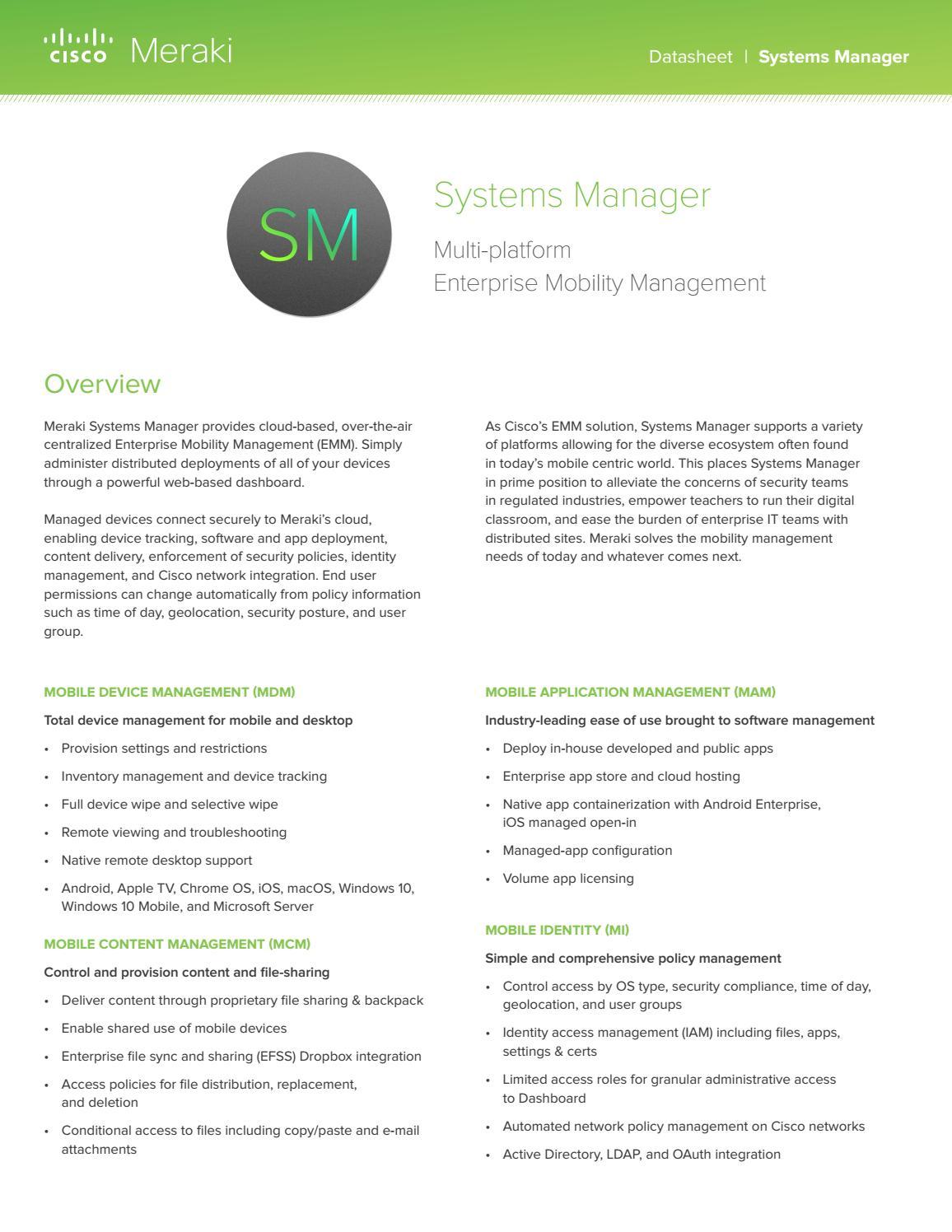 Meraki Datasheet by iStore SA - issuu