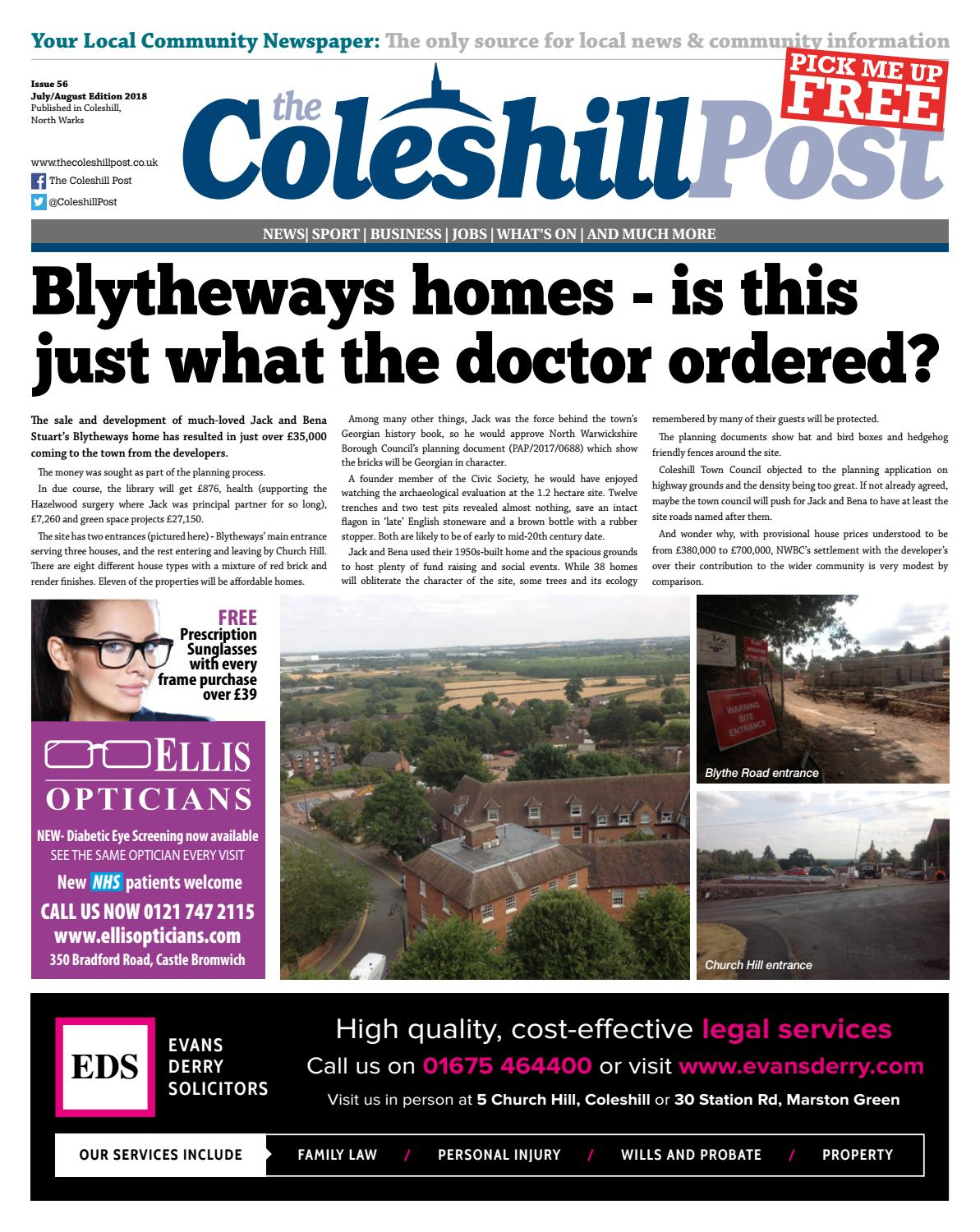 Coleshill Post July 2018 by Serena Smith - issuu