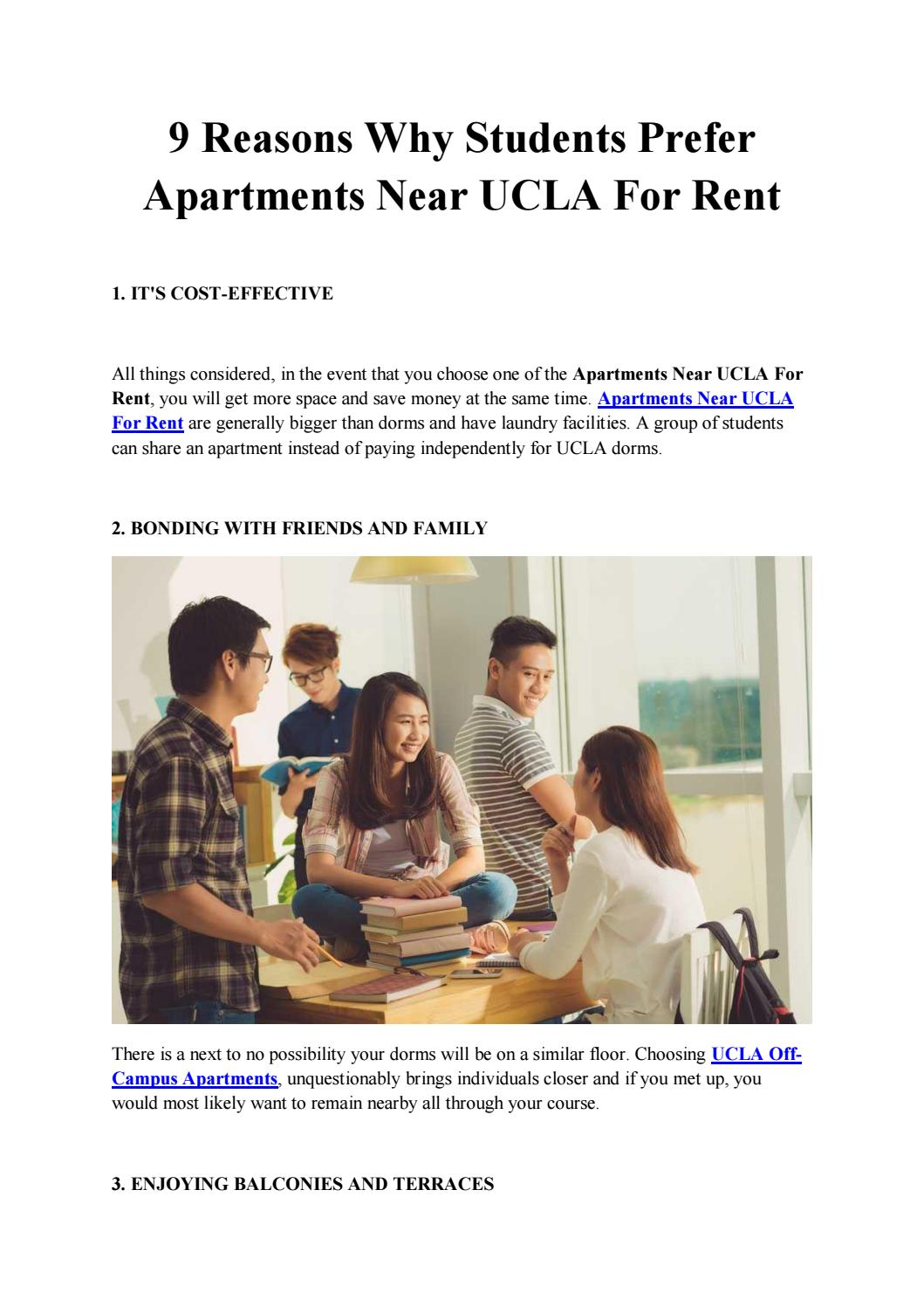 9 Reasons Why Students Prefer Apartments Near Ucla For Rent By Adam Henry Issuu