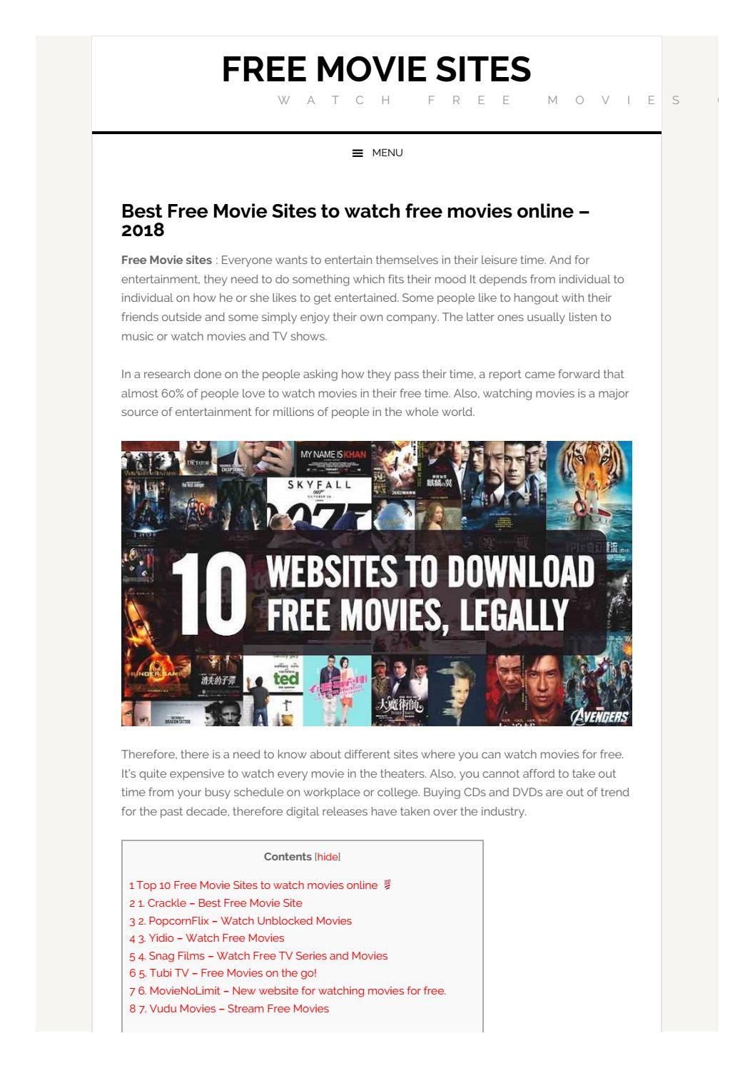 Free Movie Sites by Archie Head - issuu