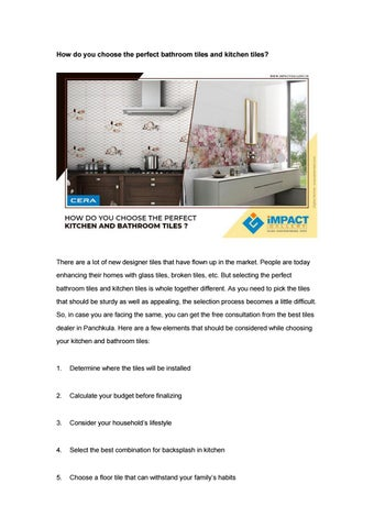 How Do You Choose The Perfect Bathroom Tiles And Kitchen Tiles By Impact Tile Gallery Issuu
