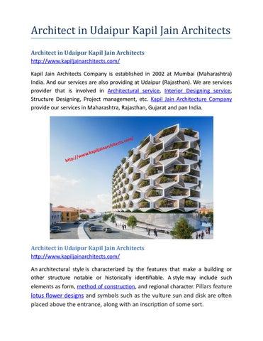 Architect In Udaipur Kapil Jain Architects By Architect Udaipur Issuu