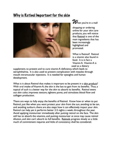 Why is Retinol Important for the skin by Alona Jeans - issuu