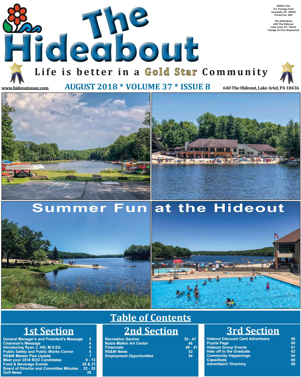 Hideabout August 2018 by The Hideout - issuu