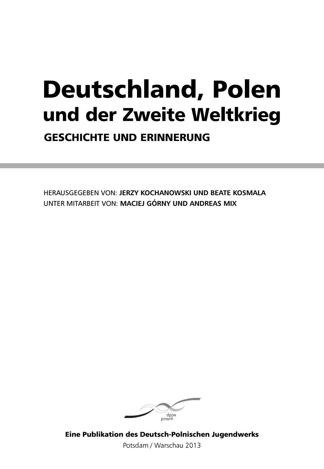 Deutschland, Polen und der Zweite Weltkrieg  Geschichte und