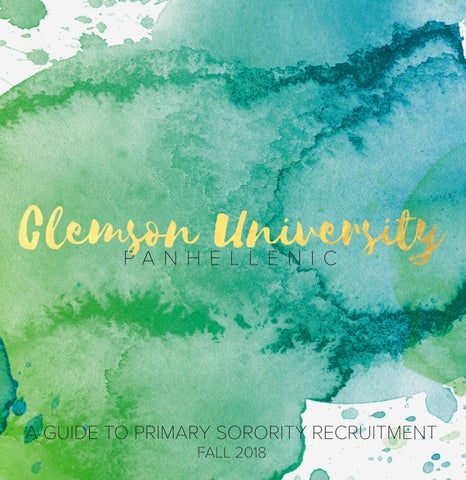 b66455fe7 Clemson Sorority Recruitment 2018 by Clemson Panhellenic - issuu
