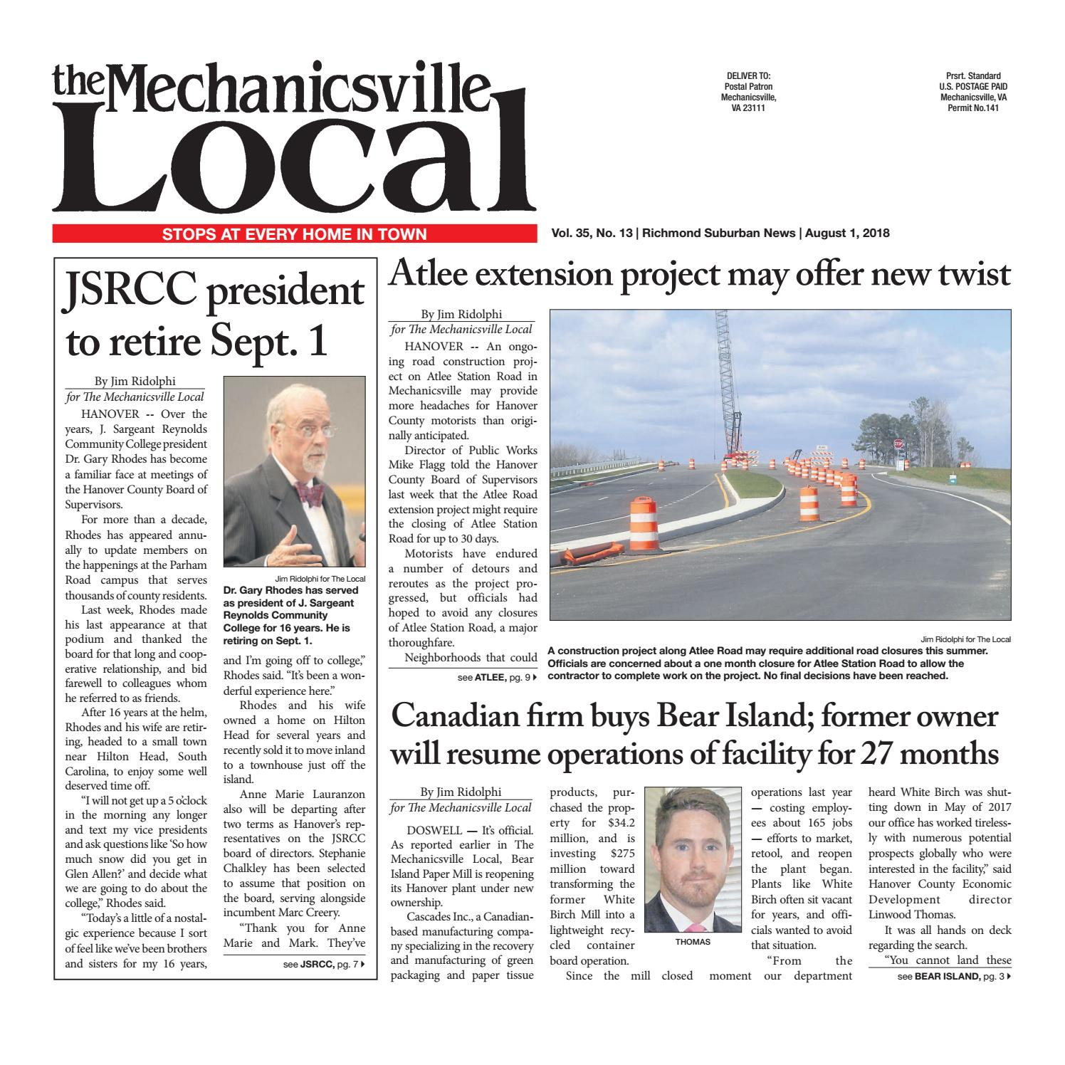 The Mechanicsville Local – 08/01/18 by The Mechanicsville Local - issuu