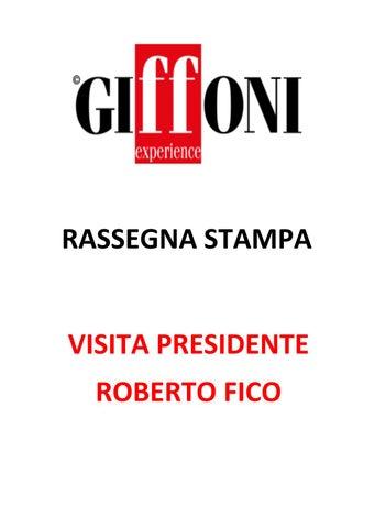 cfff44779e Rassegna Stampa - Presidente Roberto Fico (20-28 luglio) by Giffoni ...