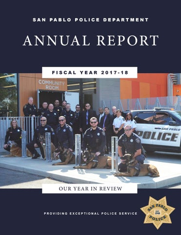 San Pablo Police Department Fiscal Year 2017-2018 by San Pablo