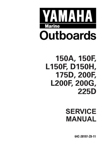 YAMAHA 200GETO, P200TR OUTBOARD Service Repair Manual L 502516 - by