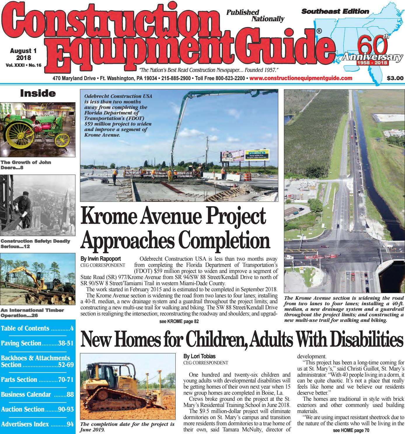 Southeast 16 August 1, 2018 by Construction Equipment Guide - issuu
