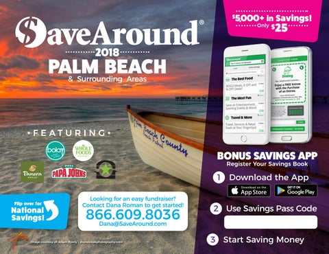 SaveAround® 2018 Palm Beach, FL Coupon Book by SaveAround