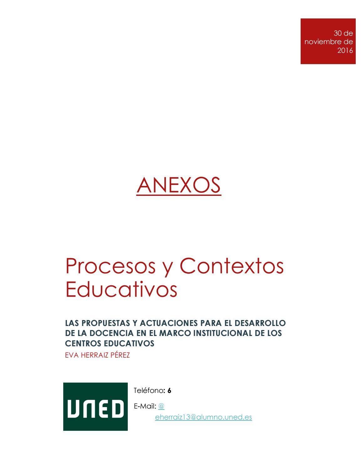 Anexos Pec Eva Herraiz Procesos Y Contextos Educativos By