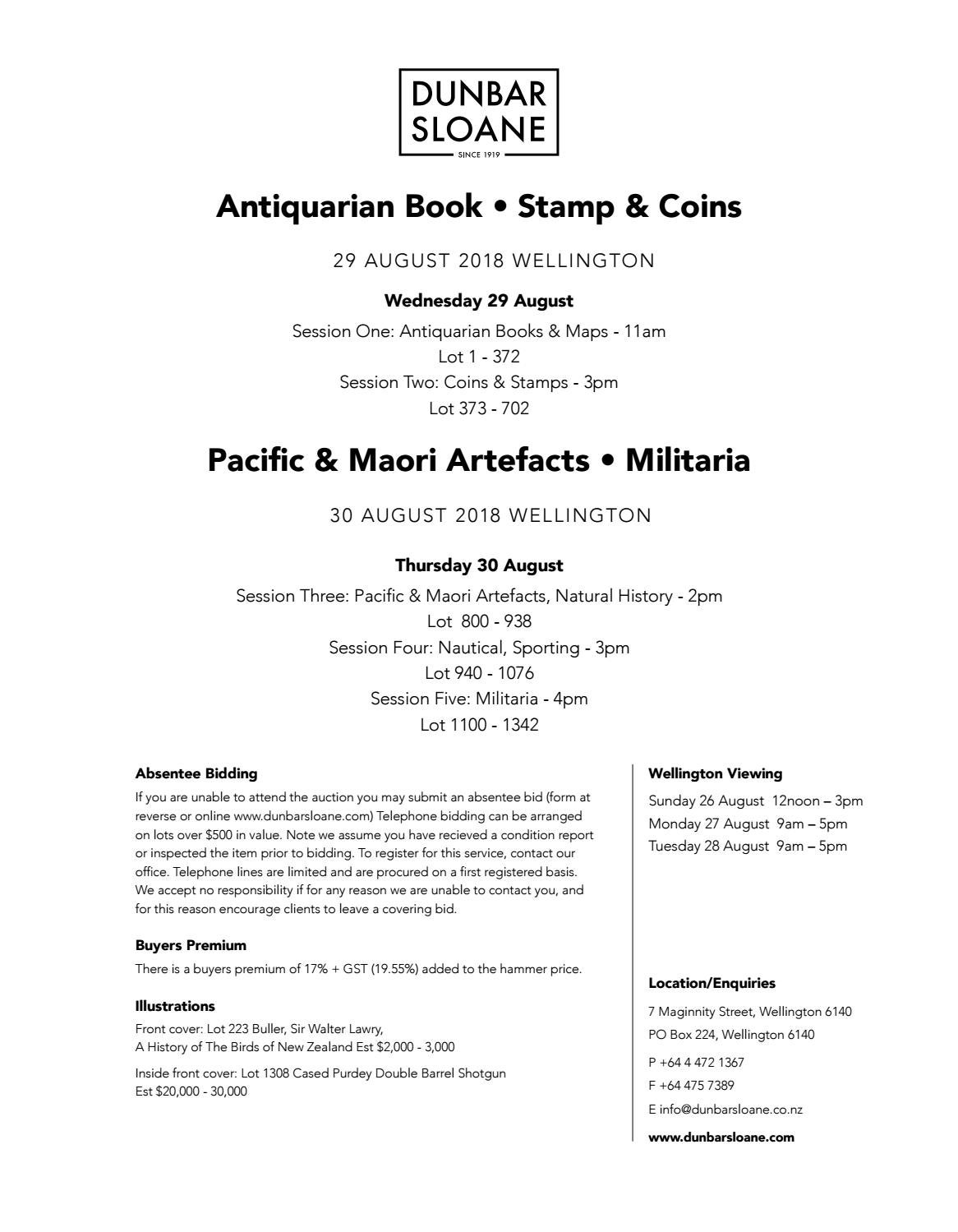 Antiquarian Book Stamp Coins Military Artefacts By Dunbar 1927 Buick Wiring Diagram Sloane Ltd Issuu
