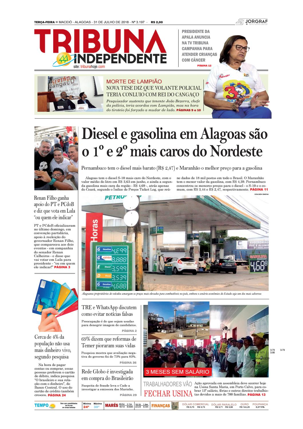 Edição número 3197 - 31 de julho de 2018 by Tribuna Hoje - issuu dc35c4ed04