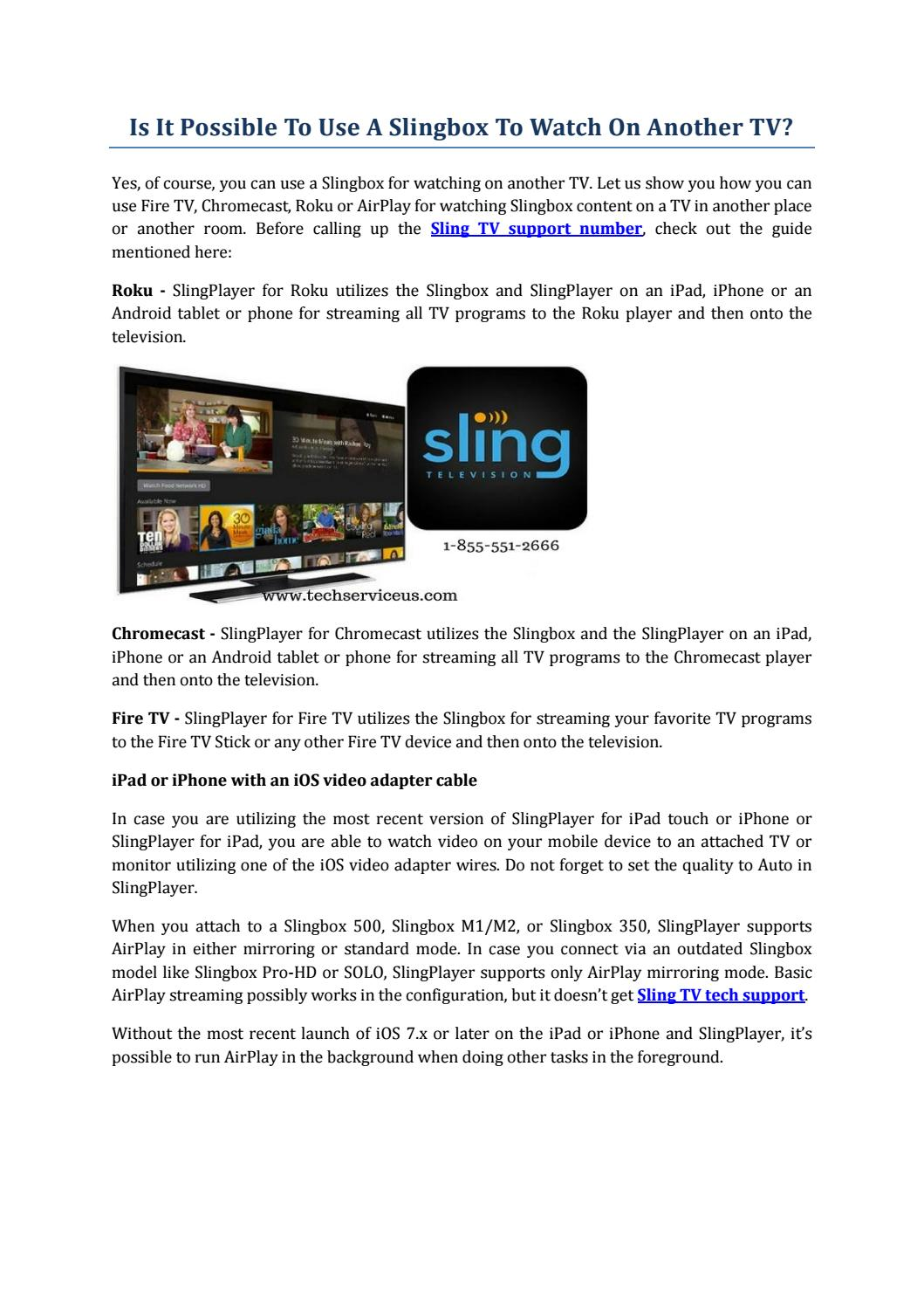 Is It Possible To Use Slingbox To Watch On Another TV? by