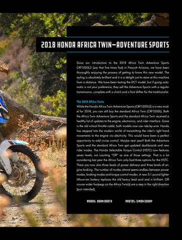 Page 37 of Riding Impressions: 2018 Honda Africa Twin Adventure Sports