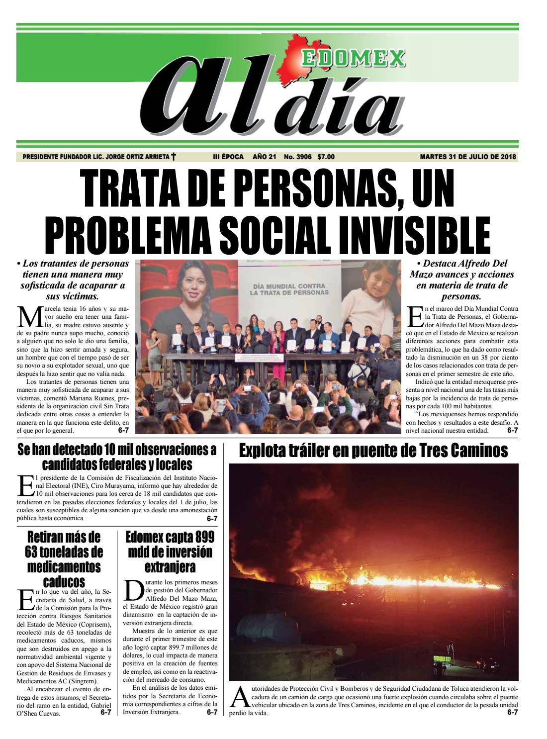 Edición 31 De Julio 2018 By Jorgeoc7 Issuu
