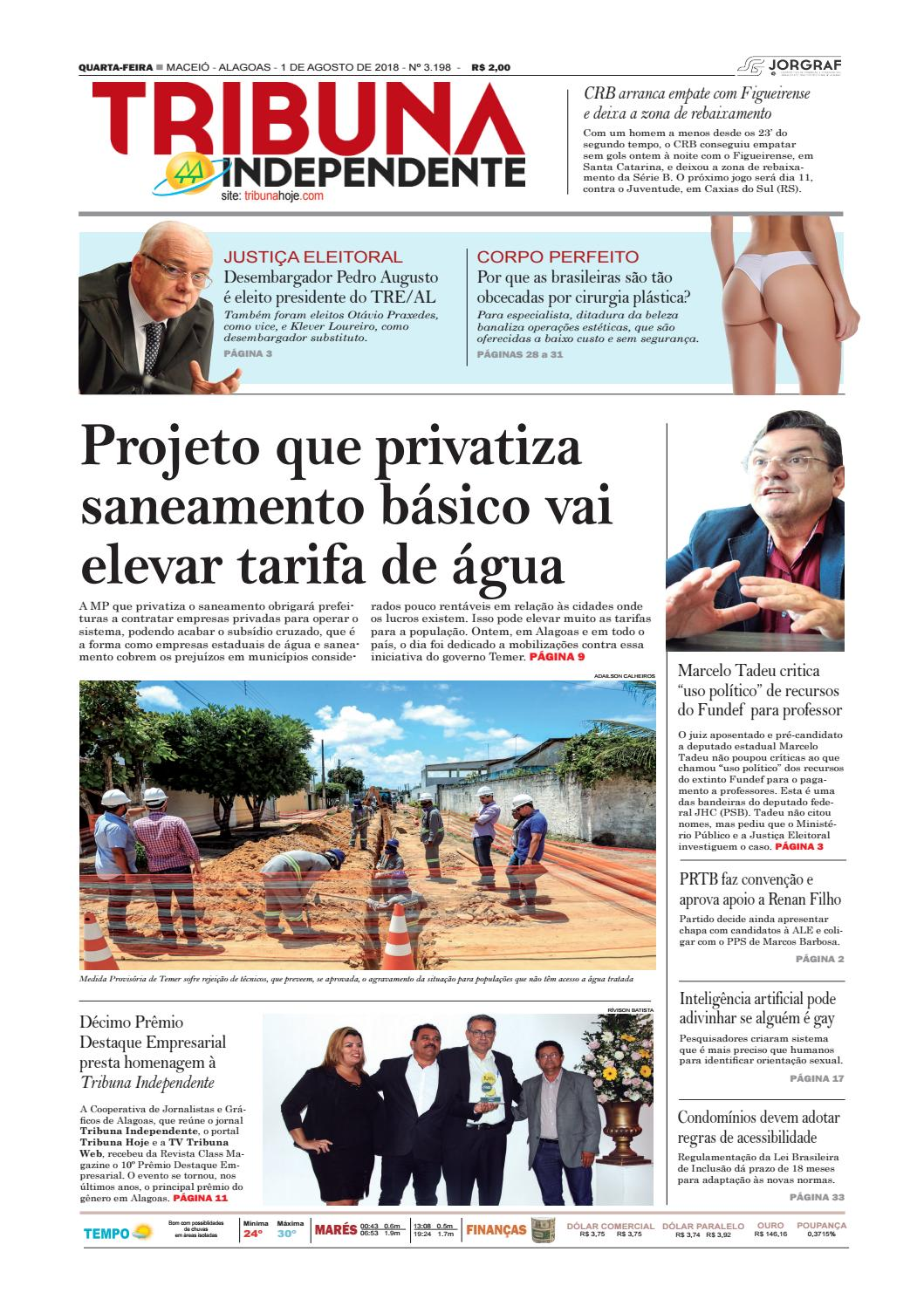 Edição número 3198 - 1 de agosto de 2018 by Tribuna Hoje - issuu fff71f4196de3