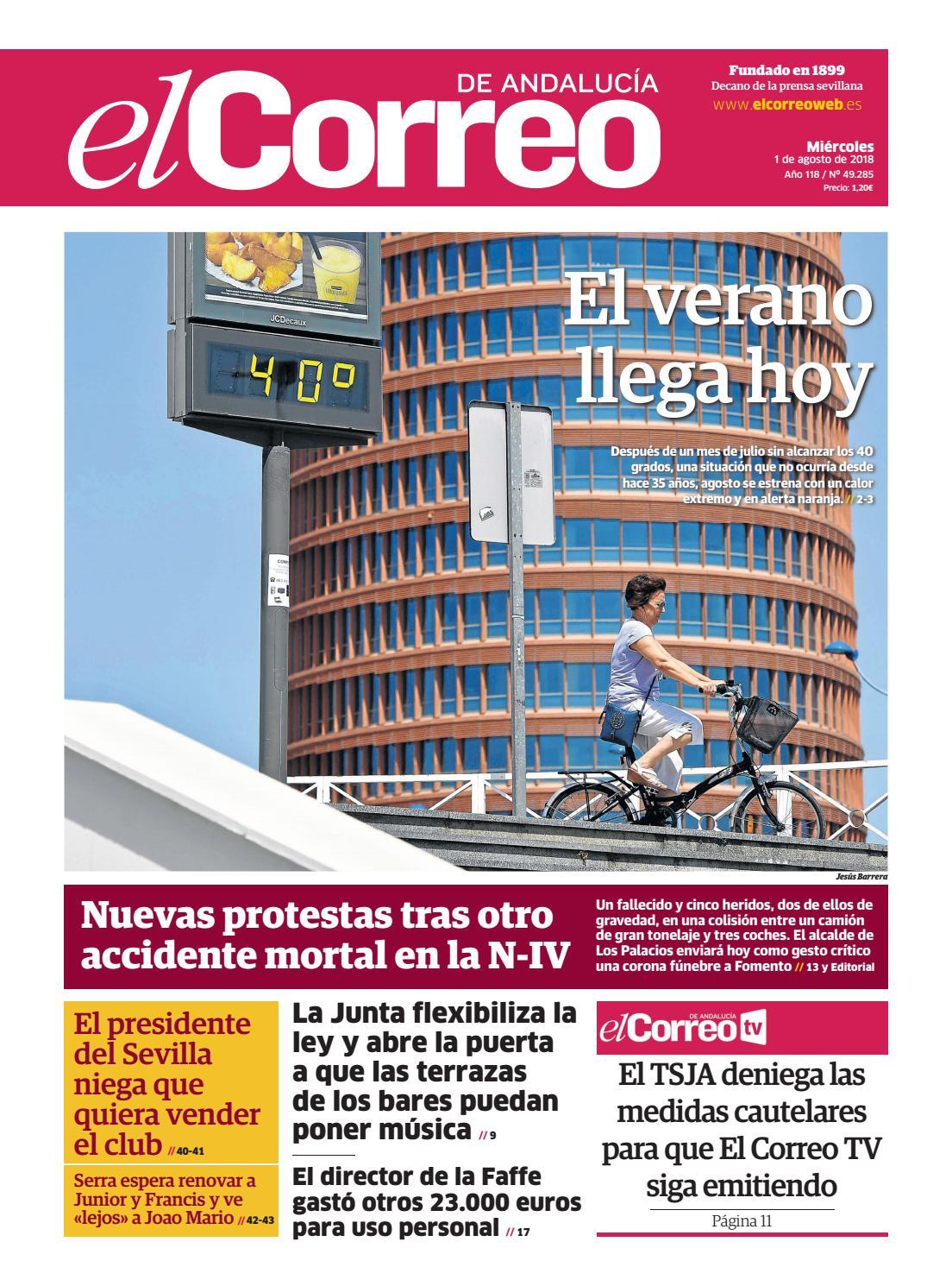 0cc0752eb 01.08.2018 El Correo de Andalucía by EL CORREO DE ANDALUCÍA S.L. - issuu