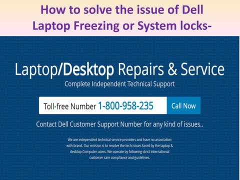 How to solve the issue of Dell Laptop Freezing or System locks-up