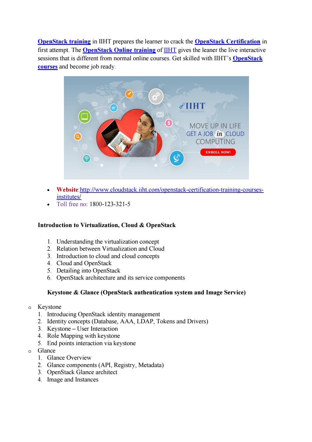 Openstack Certification Openstack Training Openstack Courses By