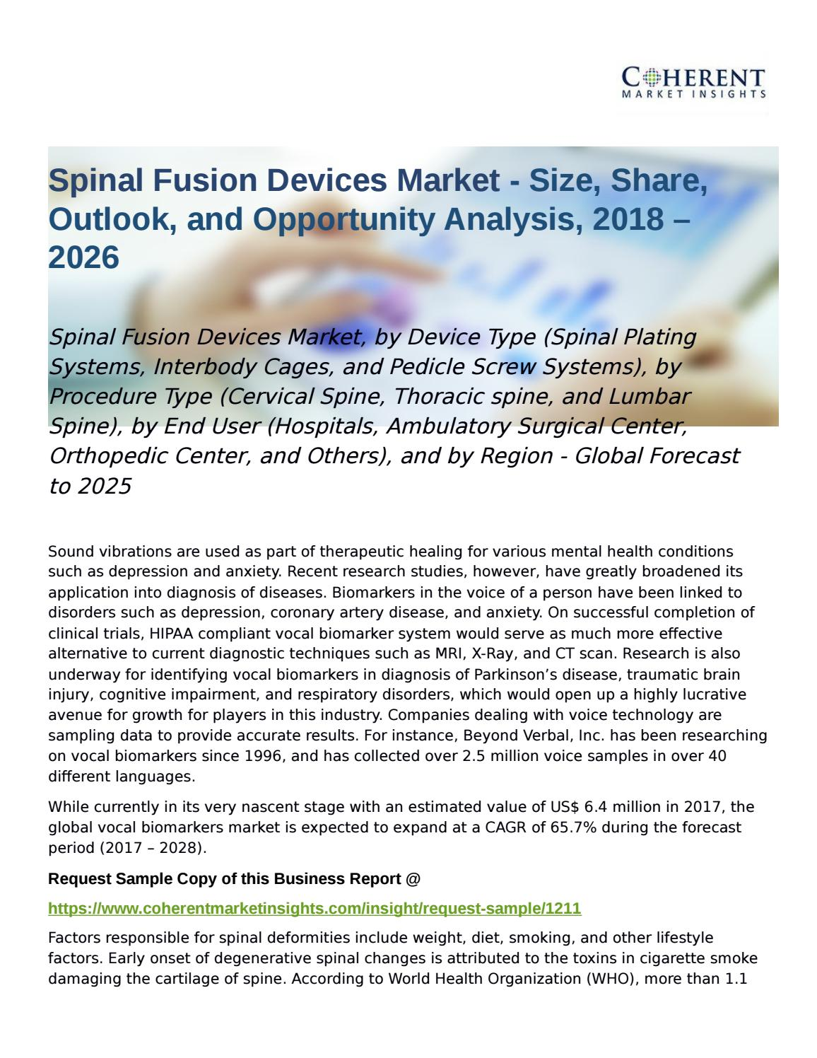 Spinal Fusion Devices Market Global Forecast to 2025 by