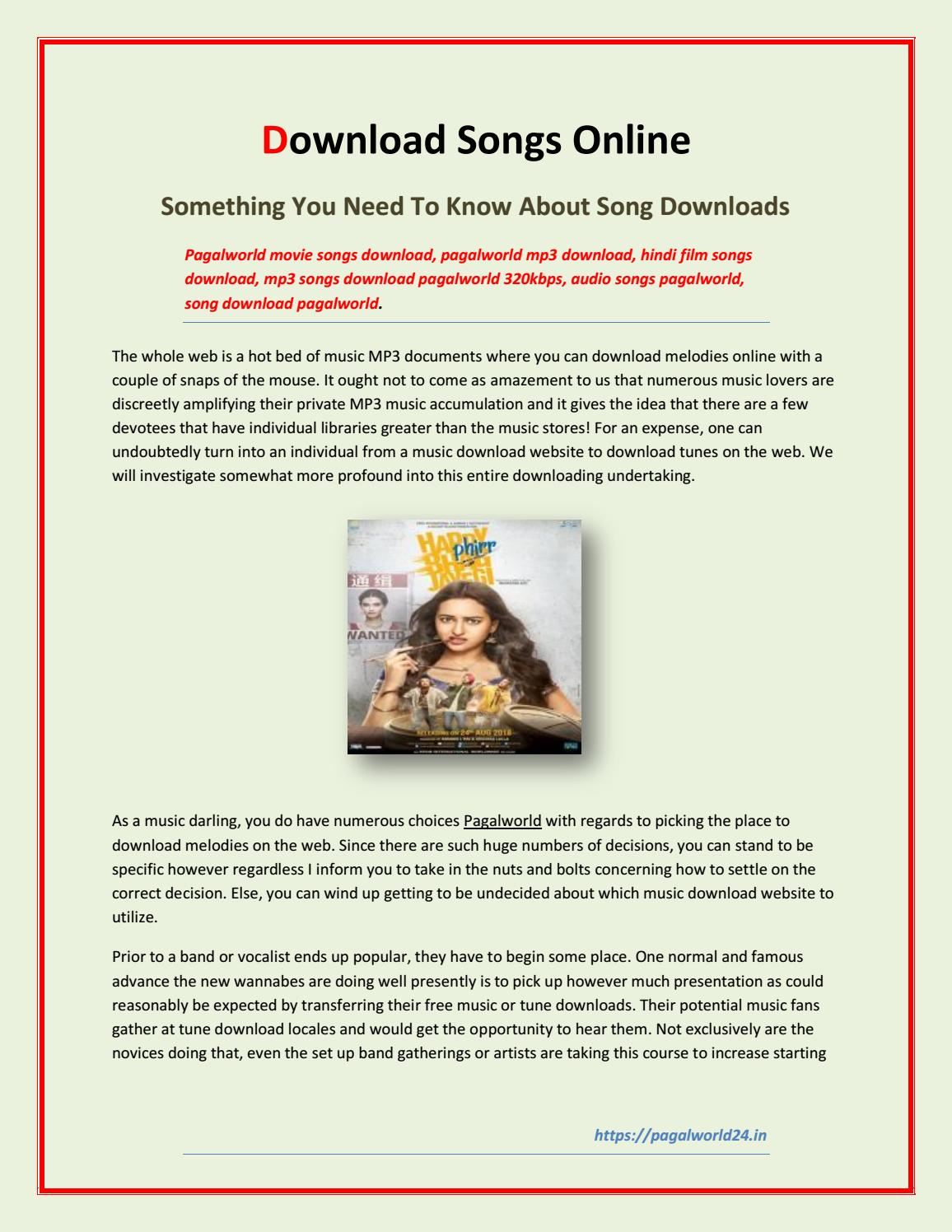 Download Songs Online - Something You Need To Know About