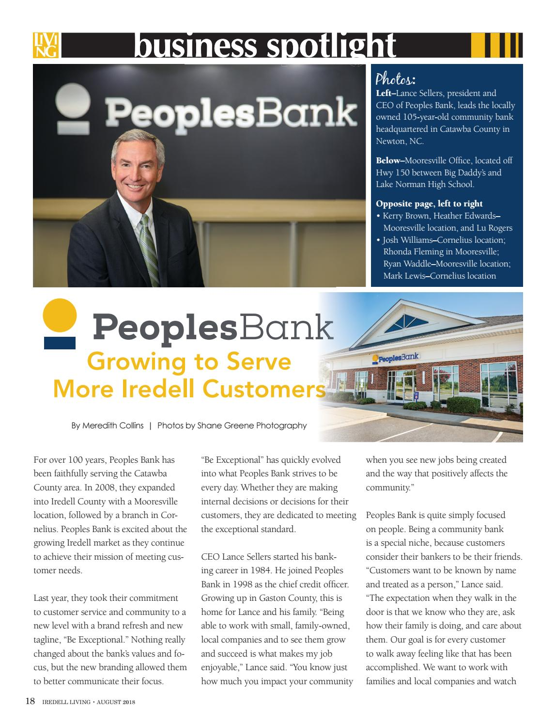 Design Bank Cor.Iredell Living August 2018 By Oasis Publishing Inc Issuu