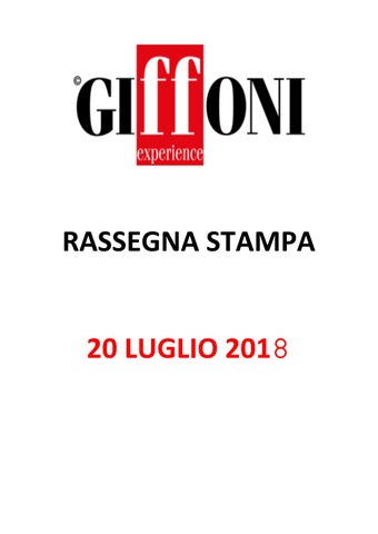 Rassegna Stampa - 20 luglio 2018 by Giffoni Experience - issuu 9dac4858bbfb