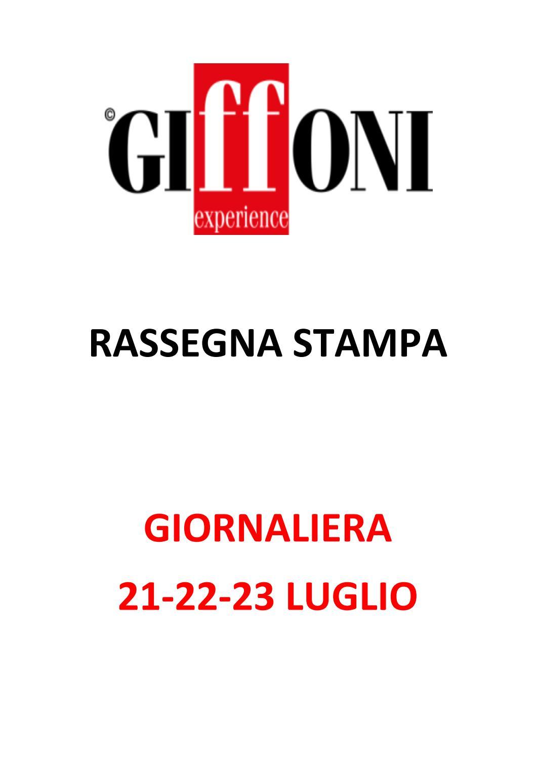 Rassegna Stampa 21 23 Luglio 2018 By Giffoni Experience Issuu