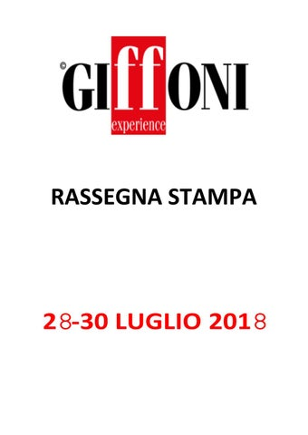 Rassegna Stampa 28 30 Luglio 2018 By Giffoni Experience