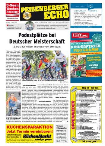 Peissenberger Echo By Wochenanzeiger Medien Gmbh Issuu