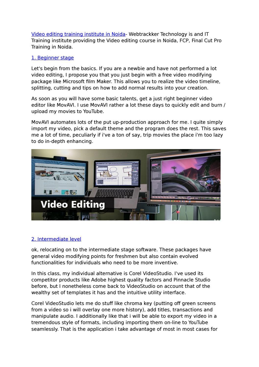 Video editing training institute in Noida by prem yadav - issuu