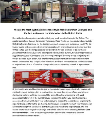 food truck for sale by customconcessions - issuu