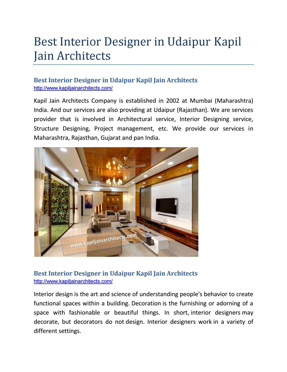 Best Architect In Udaipur Kapil Jain Architecture By Architect Udaipur Issuu