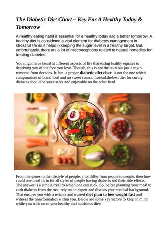 Diabetic Diet Chart Diet Foods Diet Plans By Livfittoday Issuu