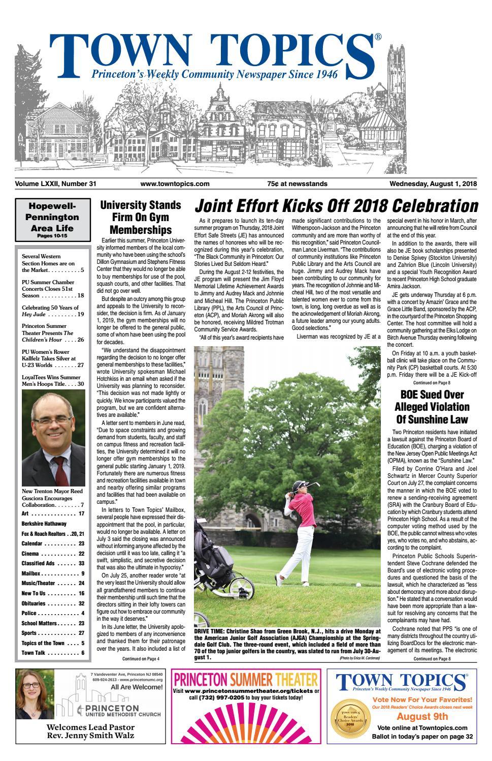 75eaaa3546 Town Topics Newspaper - August 1