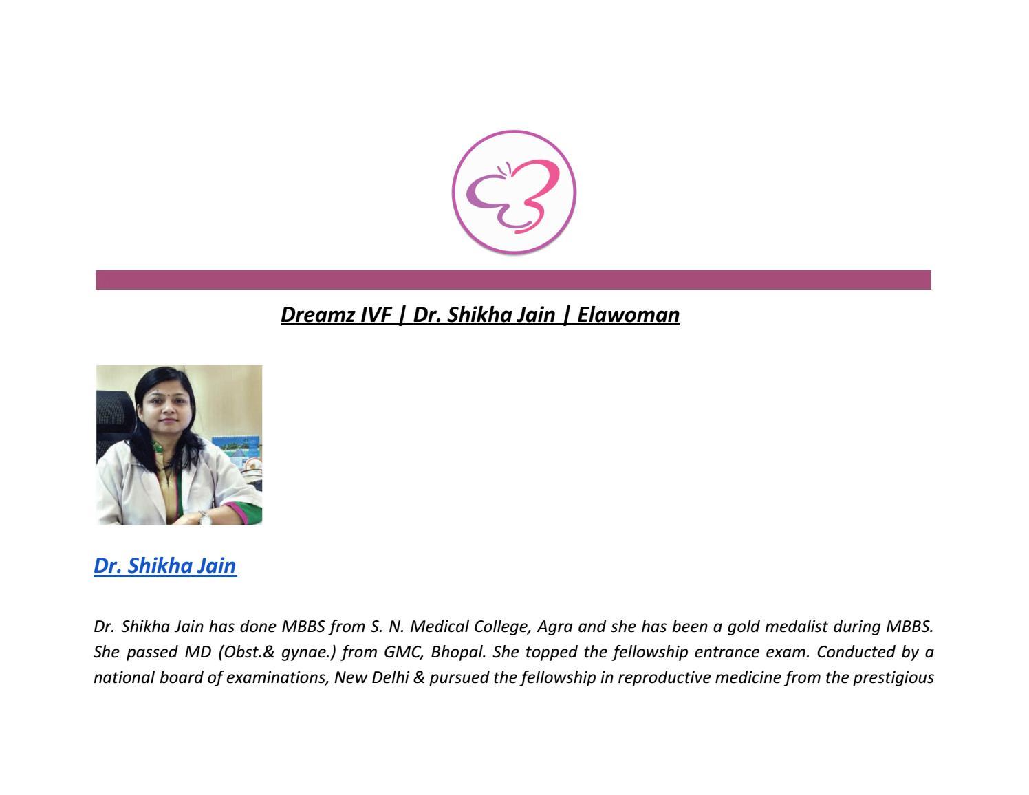 Dreamz IVF | Dr  Shikha Jain | Elawoman by URVASHI Raghu - issuu