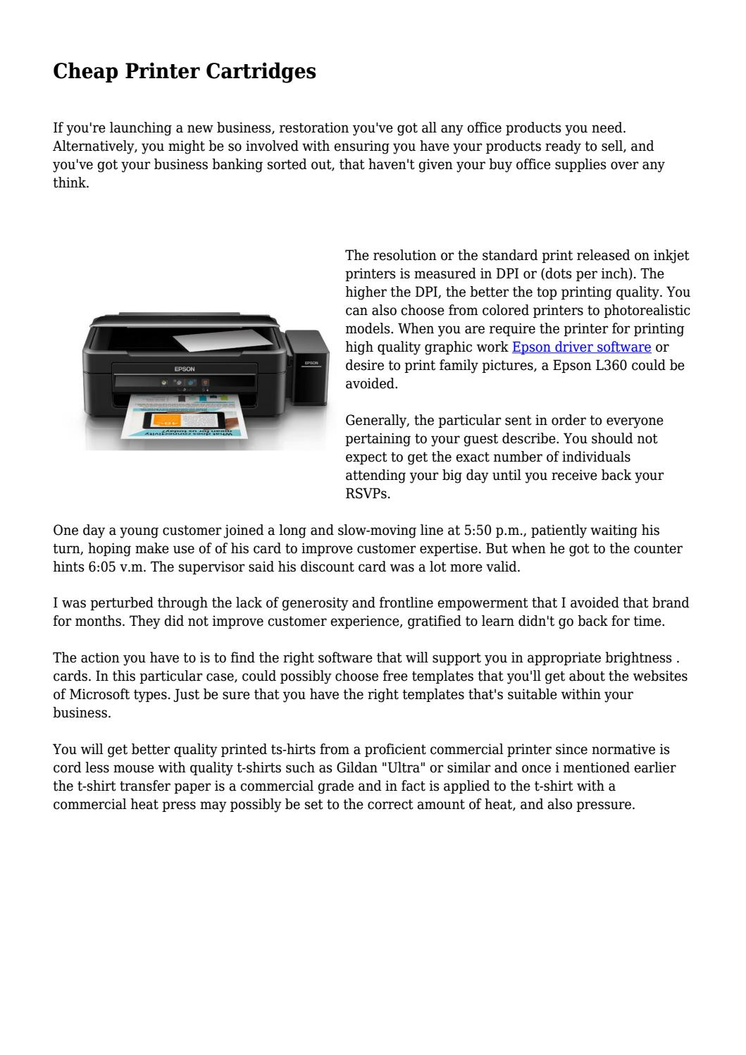 Cheap Printer Cartridges By Onegadgetgreat Issuu