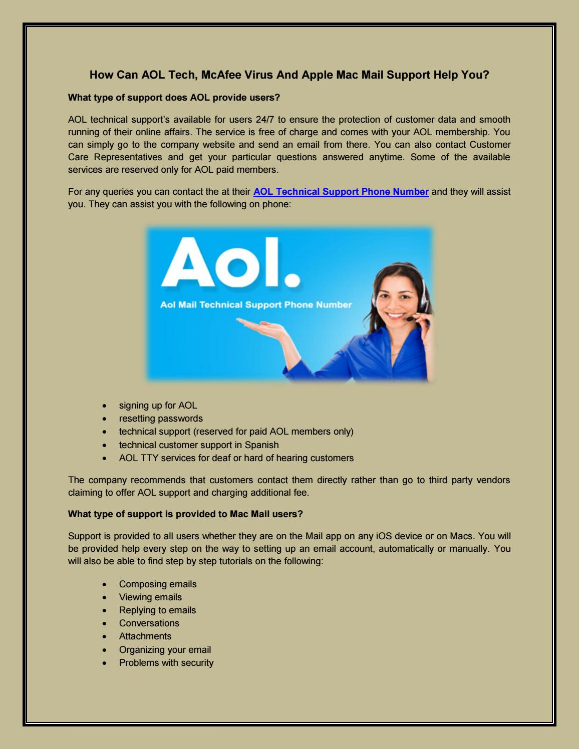 AOL Technical Support Phone Number | Apple Mac Mail Support
