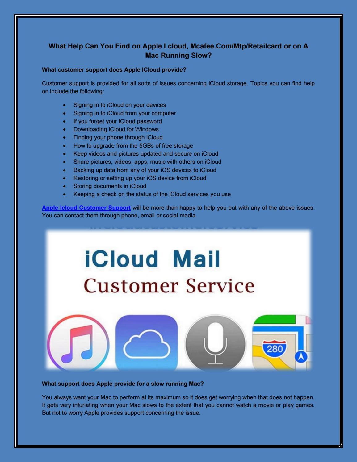 Apple Icloud Customer Support   Apple Support Mac Running
