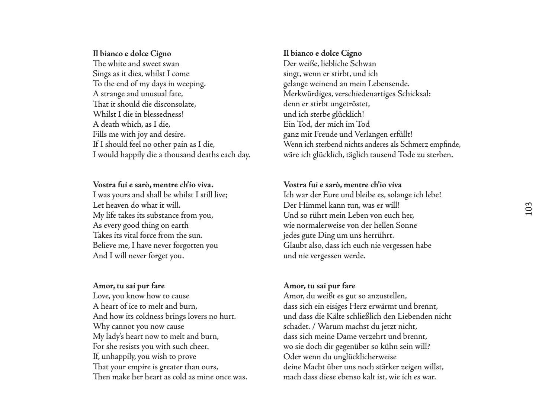 Wenn ein schwan singt | Wenn ein Schwan stirbt Songtext
